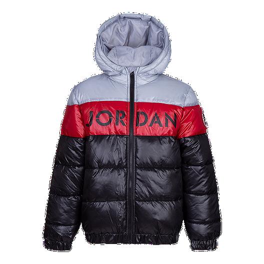 8e8fedd7e043eb Nike Jordan Boys  Bold Stripe Puffer Training Jacket
