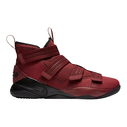 b76908dde668 Nike Men s LeBron Soldier XI SFG Basketball Shoes - Dark Red Black ...