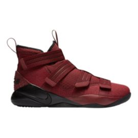 Nike Men's LeBron Soldier XI SFG Basketball Shoes - Dark Red/Black