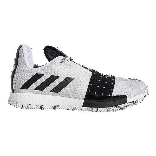 f1b8da76b15c Adidas Men s Harden Vol.3 Basketball Shoes - Black White Grey ...