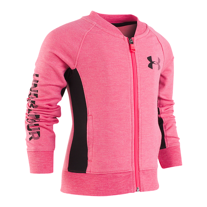 Under Armour Girls  4-6X Elevated Bomber Jacket  cf46a1557bfe4