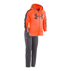 Under Armour Boys' 4-7 Travel Hood Track Jacket & Pants Set