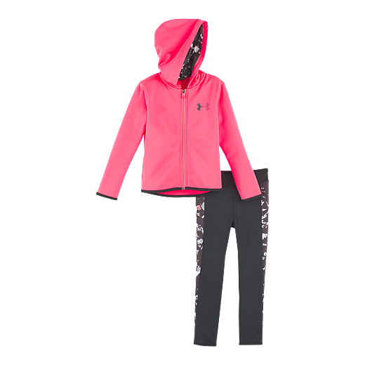 f86548d7 Under Armour Baby Girls' Black Shattered Hoodie Set
