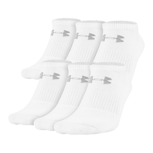ab07a9537da Under Armour Men s Charged Cotton 2.0 No Show 6-Pack