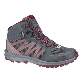 The North Face Women s Litewave Fastpack Mid Hiking Boots - Grey Red 837b14bb2