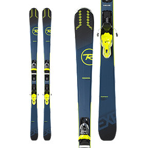 Rossignol Experience 76 Ci Xpress 2 Men's Skis 2018/19 & LOOK Xpress 11 B83 Ski Bindings - Black/Yellow