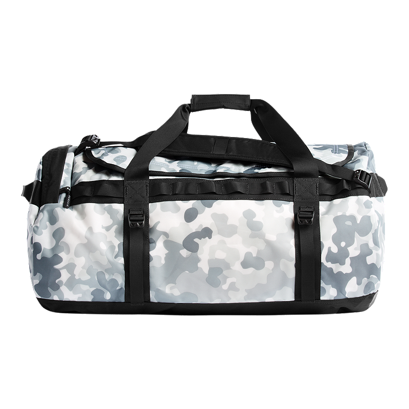 The North Face Base Camp 95L Large Duffel Bag - White Macrofleck ... 95268391f5dd7