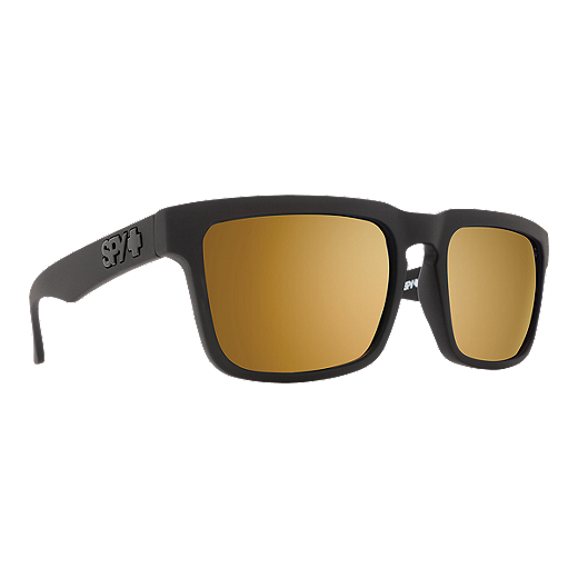 49b10305614a Spy Helm Sunglasses - Matte Black with Bronze Gold Mirror Lenses - BLACK