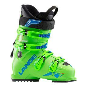 Lange XT 80 Wide Short Cuff Junior Ski Boot 2018 19 - Fluroscent Green 164e909c675