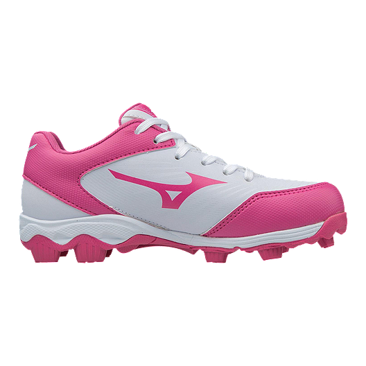 quality design 54351 1ab49 Mizuno Girls  9-Spike Advantage Finch Franchise Low-Cut Baseball Cleats -  White Pink   Sport Chek