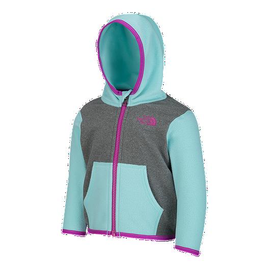 e98644000c3 The North Face Baby Girls  Glacier Full Zip Fleece Jacket