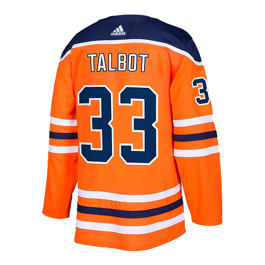 the latest 604bc 3f18b Edmonton Oilers adidas Talbot Authentic Home Jersey