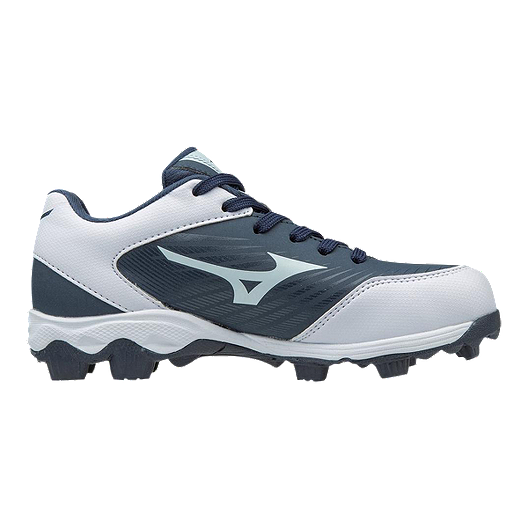 c21af4fc64d0 Mizuno Kids  9-Spike Advantage Franchise Low-Cut Baseball Cleats -  Navy White