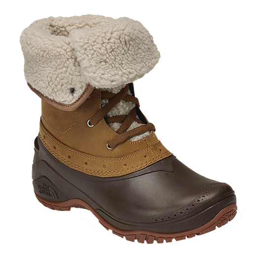 a09934c2c The North Face Women's Shellista Roll Down Winter Boots - Brown