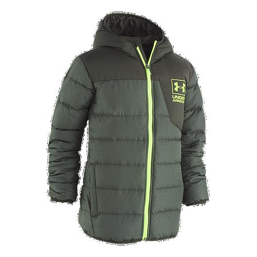 05519b0b785e Under Armour Boys  Heather Swarmdown Insulated Winter Jacket