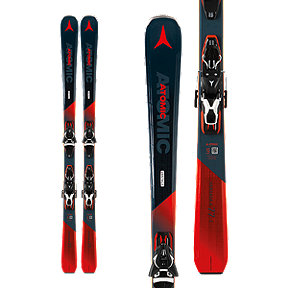Atomic Vantage X 77 C Men's Skis 2018/19 & Atomic E FT 11 GW Ski Bindings - Black/White