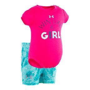 a9b1d7f0e8 Under Armour Baby Girls  It s Called Girl Power Capri Pants Set
