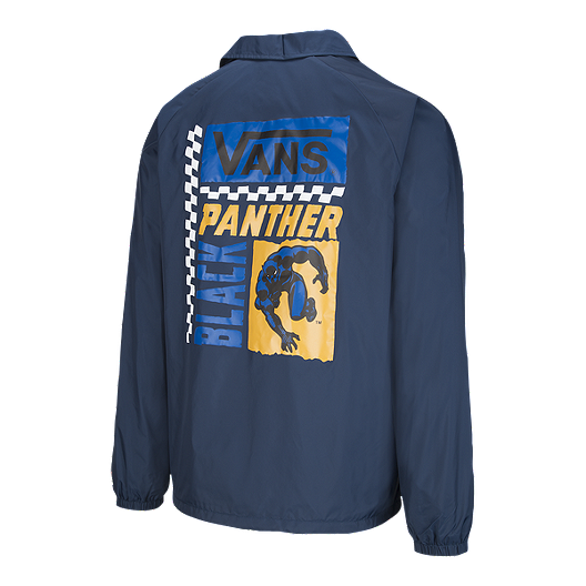 best sell sophisticated technologies on feet images of Vans x Marvel Men's Black Panther Torrey Coaches Jacket