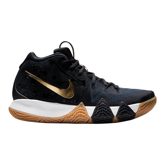 ba86cb346204 Nike Men s Kyrie 4 Basketball Shoes - Blue Gold