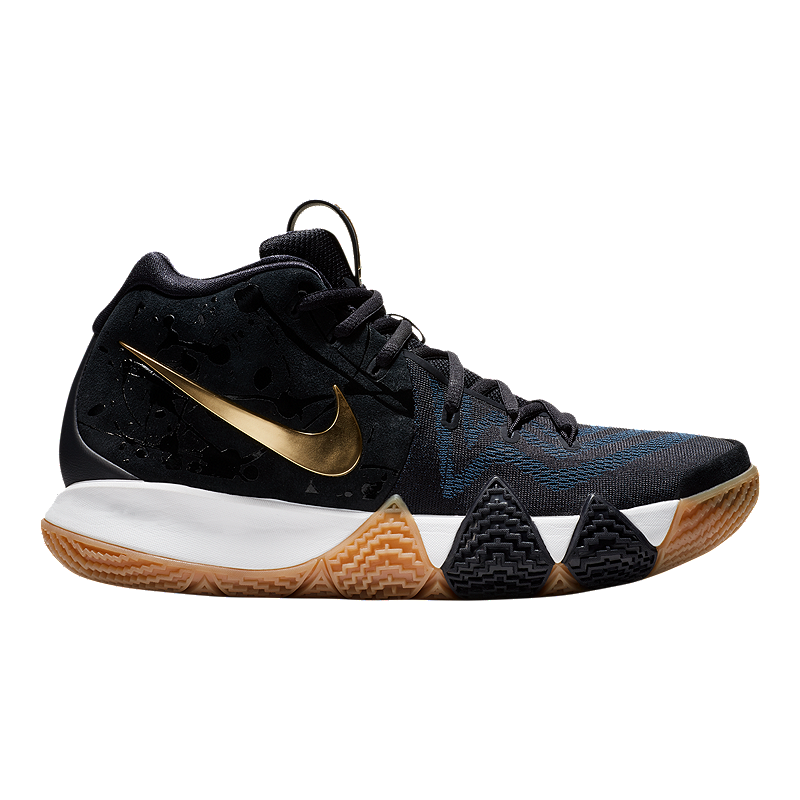 Nike Men s Kyrie 4 Basketball Shoes - Blue Gold  c2d9881ef