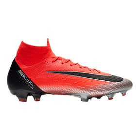 Nike Men s CR7 Mercurial Superfly VI Elite Soccer Cleats - Red d362305aaf6b