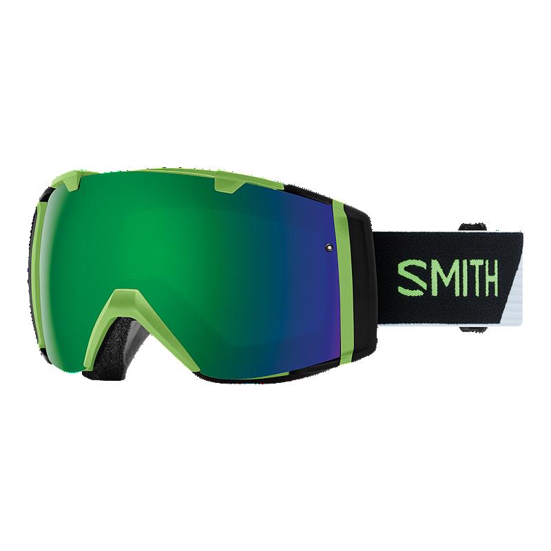 9e6b81a1a7 Smith I O Ski   Snowboard Goggles - Reactor Split with ChromaPop Sun Green Mirror  Lens