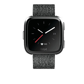 Fitbit Versa Smartwatch SE - Charcoal Woven Band