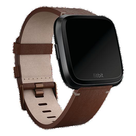 taniej bardzo tanie Nowe zdjęcia Fitbit Versa Horween Leather Accessory Band - Cognac Large