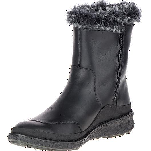 220229ce52 Merrell Women's Tremblant Ezra Zip Wp Winter Boots - Ice And Black