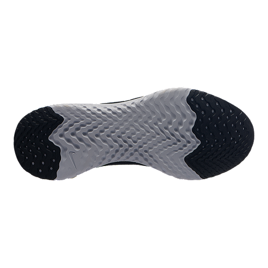78e0c136a02b Nike Women s Epic React Flyknit Running Shoes - Black Metallic Gold ...