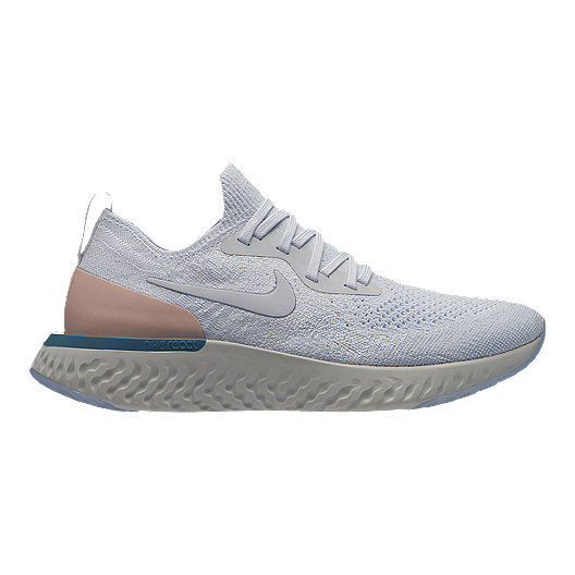 3d6a67559c37 Nike Women s Epic React Flyknit Running Shoes - Pure Platinum ...