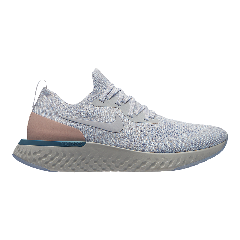 424c8e73074 Nike Women s Epic React Flyknit Running Shoes - Pure Platinum ...