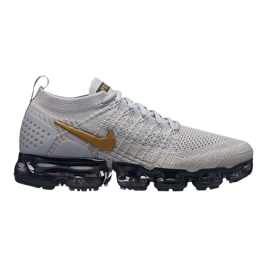 06704c4c64b Nike Women s Air Vapormax Flyknit 2 Running Shoes - Grey Gold ...