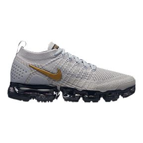 b8edc97ec52e9 Nike Women s Air Vapormax Flyknit 2 Running Shoes - Grey Gold