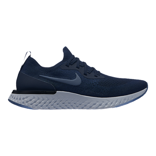 b140fd8c8e41 Nike Men s Epic React Flyknit Running Shoes - Navy Blue Grey