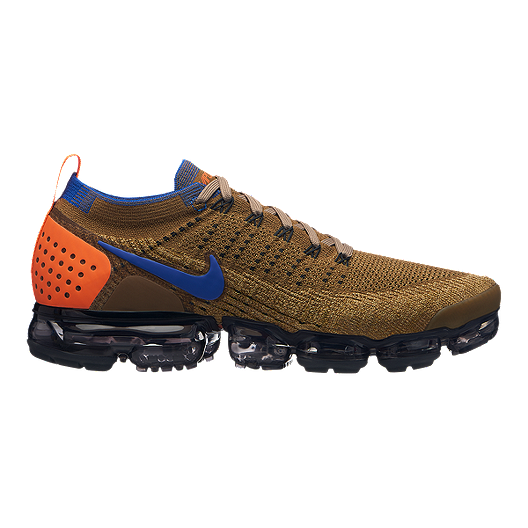 2c88c8ac379f9 Nike Men s Air Vapormax Flyknit 2 Running Shoes - Orange Blue Gold ...