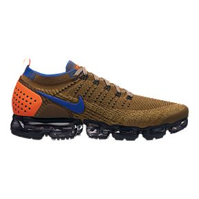 4abe9498102bf Nike Men s Air Vapormax Flyknit 2 Running Shoes - Orange Blue Gold