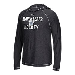 c335c1710 image of Toronto Maple Leafs adidas Men s Puck Slide Ultimate Long Sleeve  Hood T Shirt with