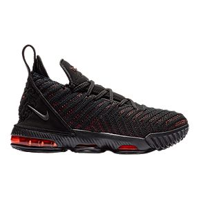 Nike Kids  LeBron XVI Grade School Basketball Shoes - Black Red 7dd7e72b175a7