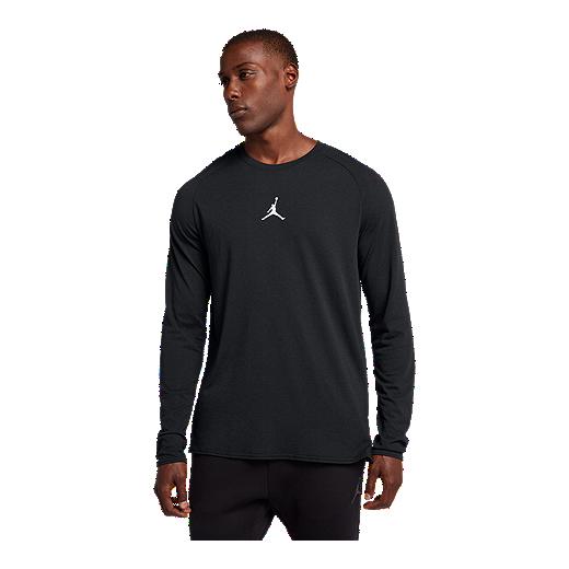 68c36610e31 Jordan Men's 23 Alpha Dry Long Sleeve Shirt - BLACK/WHITE