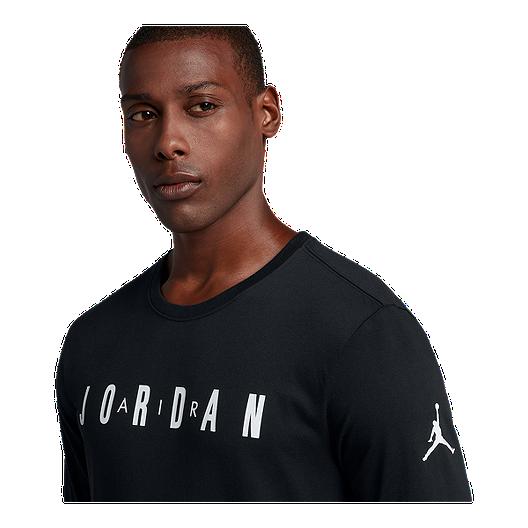 New Nike Mens Jordan HO1 Long Sleeve Basketball Shirt Gym Red//Black All SIzes