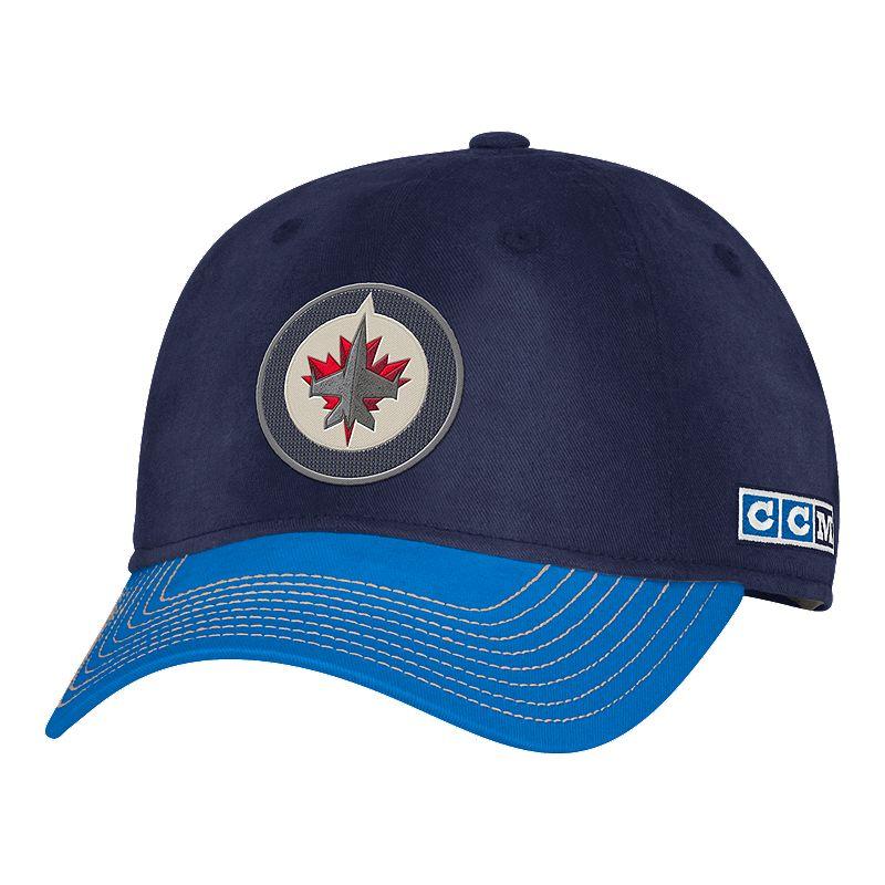 8fc44a7bcb6 Winnipeg Jets adidas Men s CCM Adjustable Slouch Hat (889771200952) photo