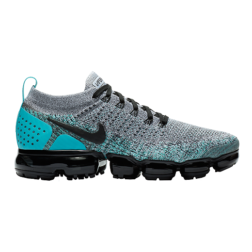 7fd4564ad8 Nike Men's Air VaporMax Flyknit 2 Running Shoes - White/Black/Jade - WHITE