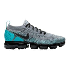 Nike Men s Air VaporMax Flyknit 2 Running Shoes - White Black Jade ... a42edcac0eca
