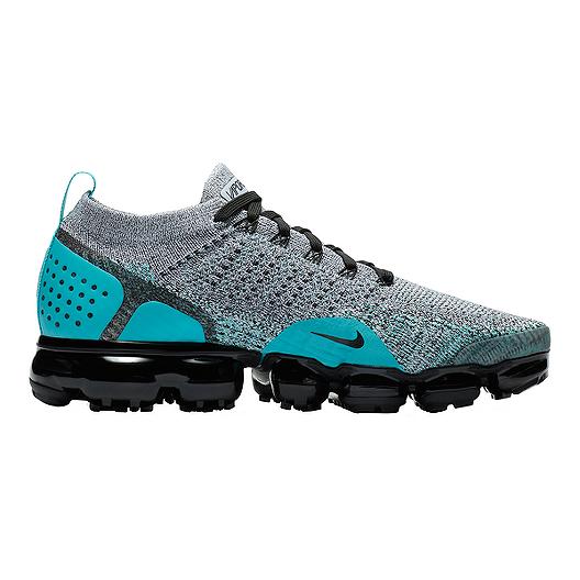0e388b40a06 Nike Men s Air VaporMax Flyknit 2 Running Shoes - White Black Jade ...