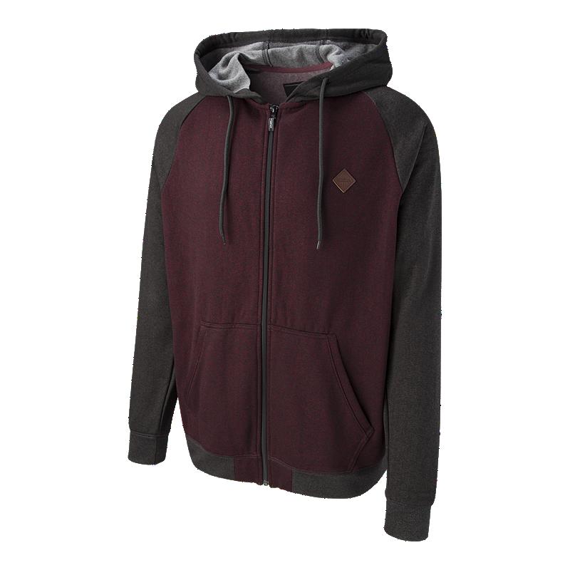 online retailer df104 f393a ONeill Mens Blocker Full Zip Hoodie - Wine  Sport Chek