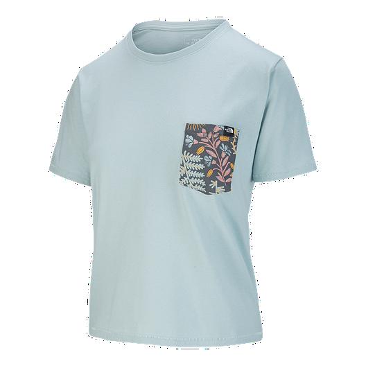 7d89fe87c The North Face Women's Boyfriend Pocket T Shirt - Blue Haze