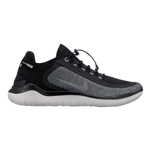 new product d7d91 e0246 Nike Men s Free RN 2018 Shield Running Shoes - Black Silver Grey - BLACK