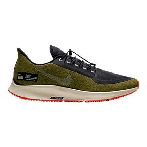 more photos 0f3f0 4802d Nike Men's Air Zoom Pegasus 35 Shield Running Shoes - Green/Silver/Black