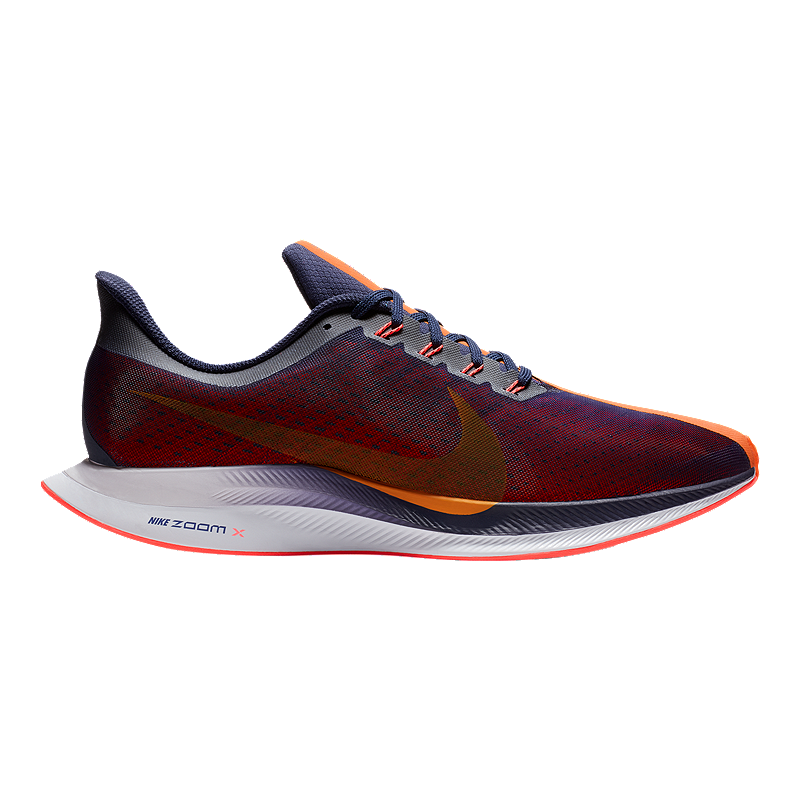 new arrivals 5a570 ac8eb Nike Mens Air Zoom Pegasus 35 Turbo Running Shoes - BlueOrangeRed   Sport Chek